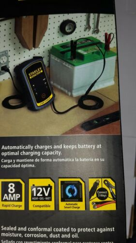 8AMP-12V STANLEY FATMAX RE-CHARGE IT MODEL BC8S 8 AMP CHARGER /& MAINTAINER