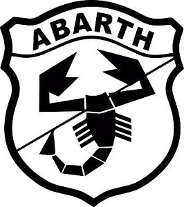 abarth logo fiat 500 vinyl cut sticker decals 225 x200mm free uk delivery ebay. Black Bedroom Furniture Sets. Home Design Ideas