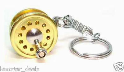 Victory Chain Fly Fishing Reel Miniature Novelty  Keychain