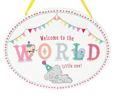Me To You Tiny Tatty Teddy Baby Welcome To The Word Plaque Gift AGP92001