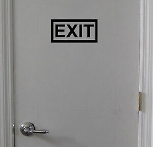 EXIT-Sign-Vinyl-Decal-Sticker-Door-Window-Wall-Inside-or-Outside