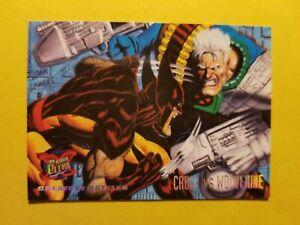 Wolverine Marvel 1995 Fleer Ultra X-Men base trading card #129 Cable vs