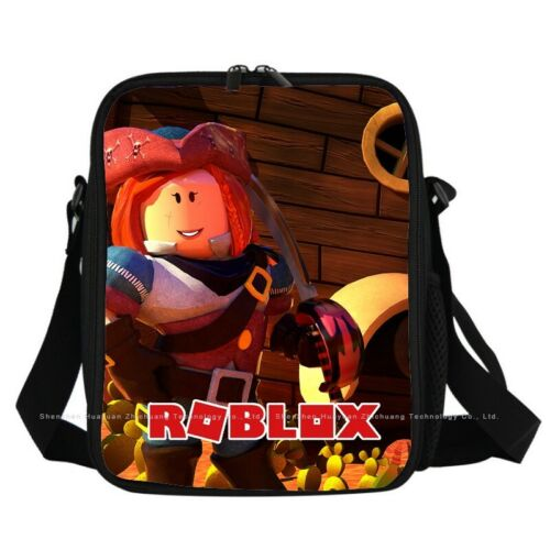 Kids Boys Roblox Cartoon Insulated Lunch Picnic Bag School Travel Snack Lunchbox