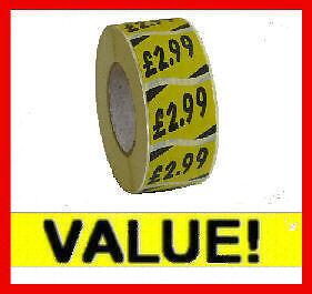 1000 PER ROLL £2.99 STICKY LABELS 35MM X 28MM
