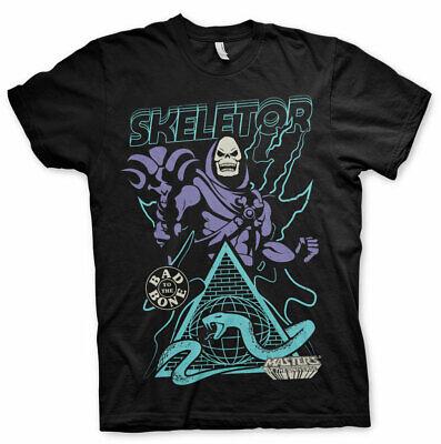 Masters Of The Universe Skeletor Bad To The Bone Männer Men T-shirt Schwarz Neueste Technik