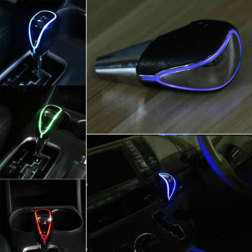 Universal Fit Touch Motion Activated LED Light Car Gear Shift Knob Shifter Stick