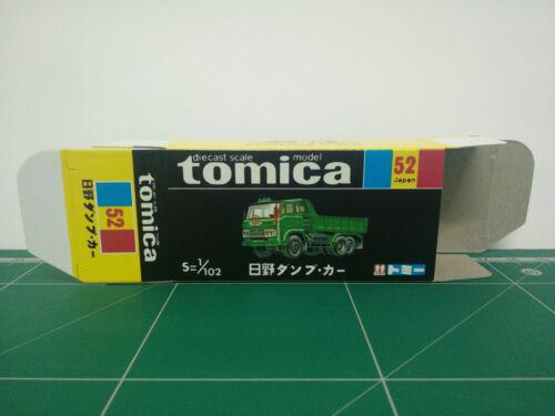 REPRODUCTION BOX for Tomica Black Box No.52 Hino Dump Car