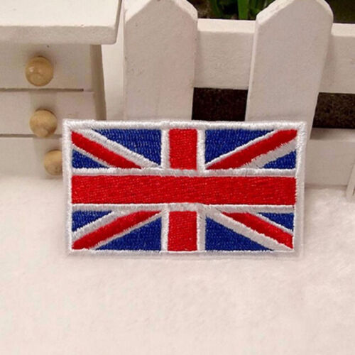 2x UK Flag Embroidered Iron Sew On  Patch United Kingdom Badge Transfer