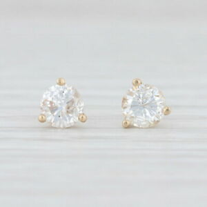 0-68ctw-Martini-Diamond-Stud-Earrings-14k-Yellow-Gold-New-La-Pousette-Backs