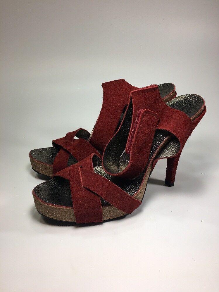 disegni esclusivi Pedro Garcia  599 NEW rosso Suede Suede Suede Cork Platform Heels donna Dimensione 9.5 M EU39.5  alta qualità generale