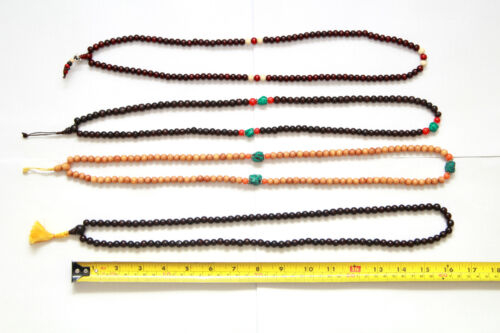 108 buddhist prayer beads, japa mala, beads healing and meditation from Nepal.