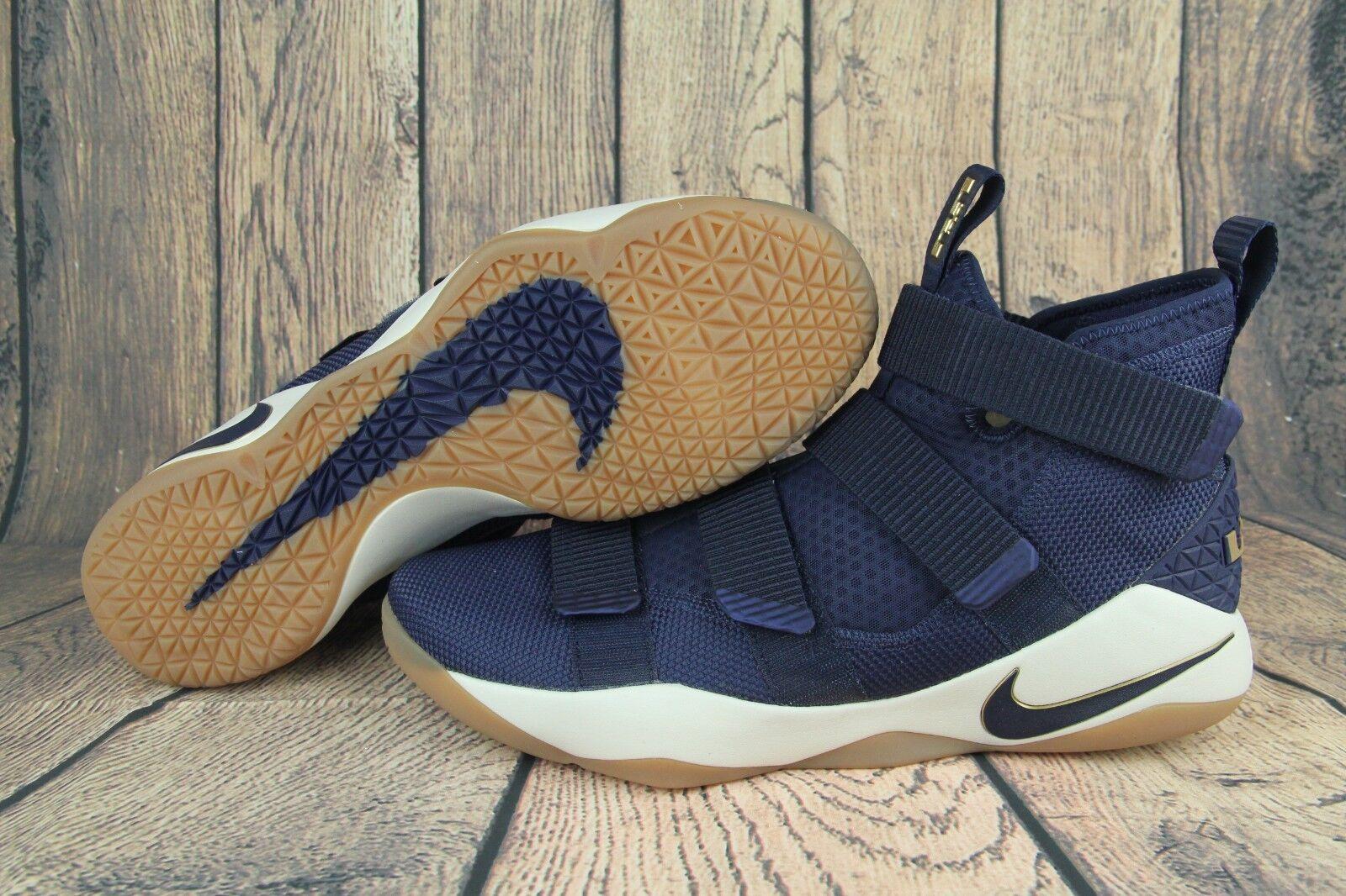 buy online 41f56 1016b ... Nike LeBron LBJ Soldier XI XI XI Midnight Navy Metallic Gold 897644-402  SZ ...