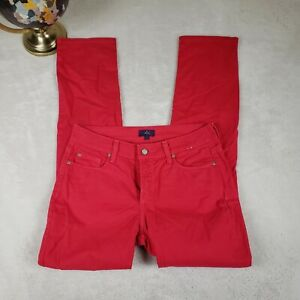 NYDJ-NOT-YOUR-DAUGHTERS-JEANS-RED-SKINNY-Womens-Sz-2