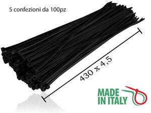 100 FASCETTE PER CABLAGGIO 3x100mm NERE 4//11675