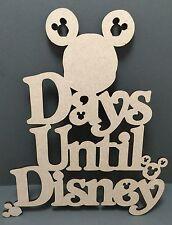S127 DAYS UNTIL DISNEY Chalk Board Countdown Calendar MDF Plaque Sign Wood