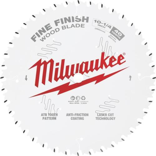 "Milwaukee 10-1//4/"" High-Performance 40-Dent Fine Finition Lame de scie circulaire"
