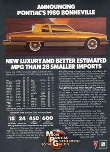 1980-Pontiac-Bonneville-Coupe-Original-Advertisement-Print-Art-Car-Ad-J994