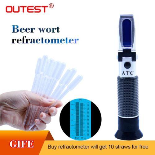 Digital Refractometer Beer Brix Wort Sugar Alcohol 0~32/%  RZ129 Wort hydromet…