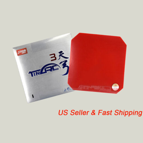 Table Tennis DHS TINARC3 Pips-In Rubber Sponge Red/ Black