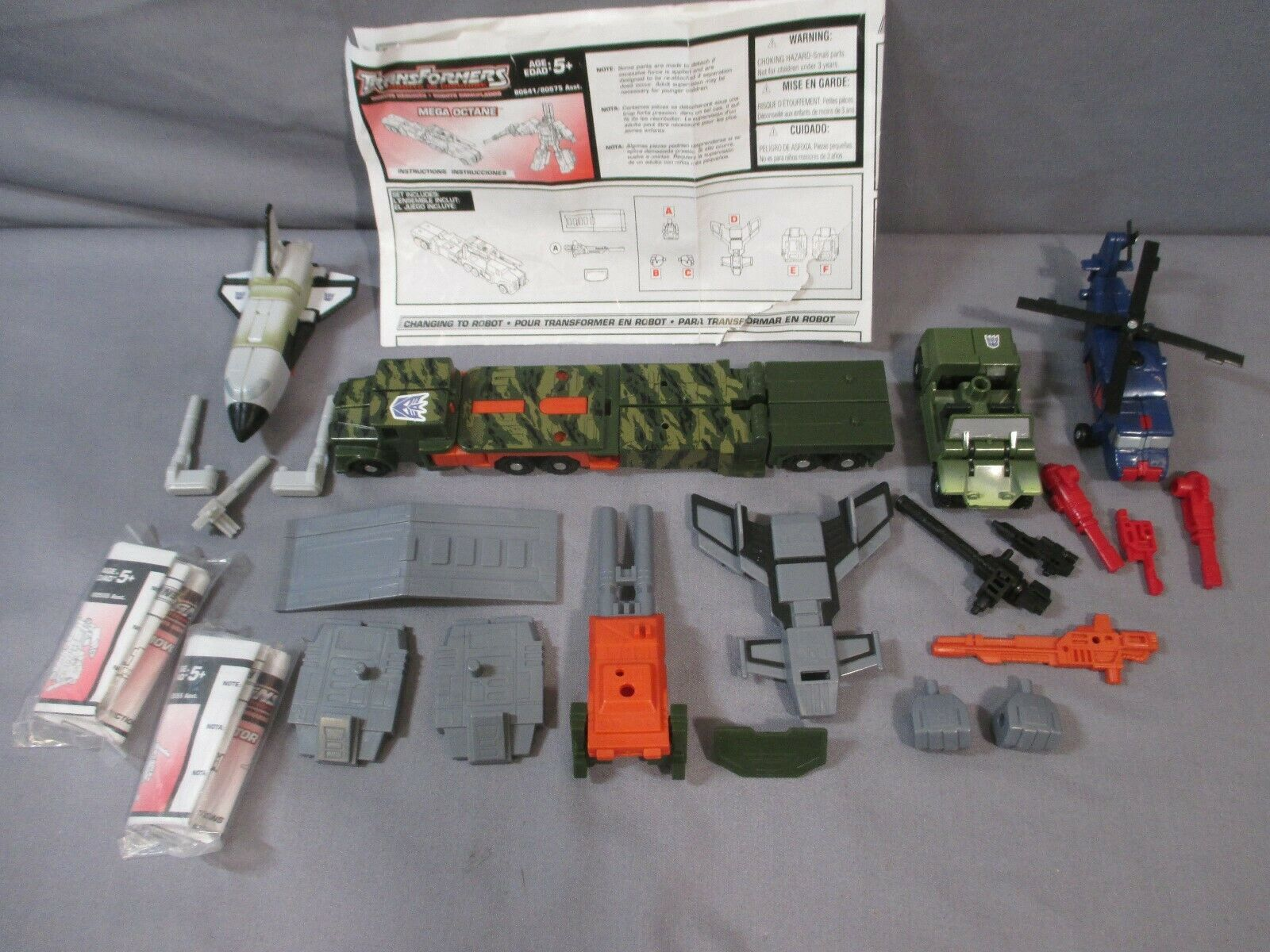Transformers R.I.D. Ruination lot MEGA OCTANE w  Rollbar Mover Ro-Tor RID