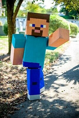 Minecraft Costume Steve Alex Creeper Mario And More Halloween Mascot Cosplay Ebay