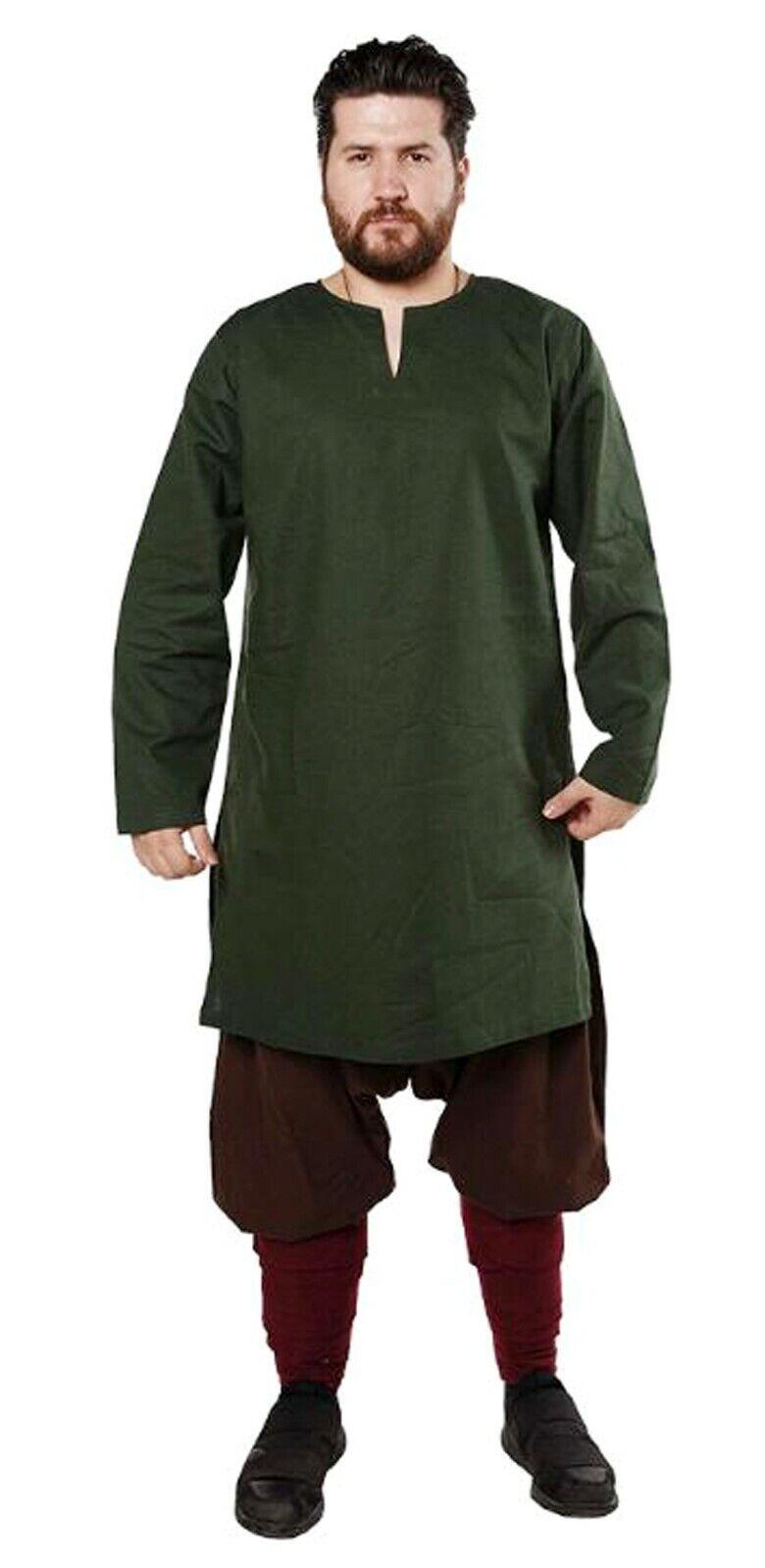 Aljanna Renaissance Medieval Viking Full Sleeves Mehndi Tunic/Costume