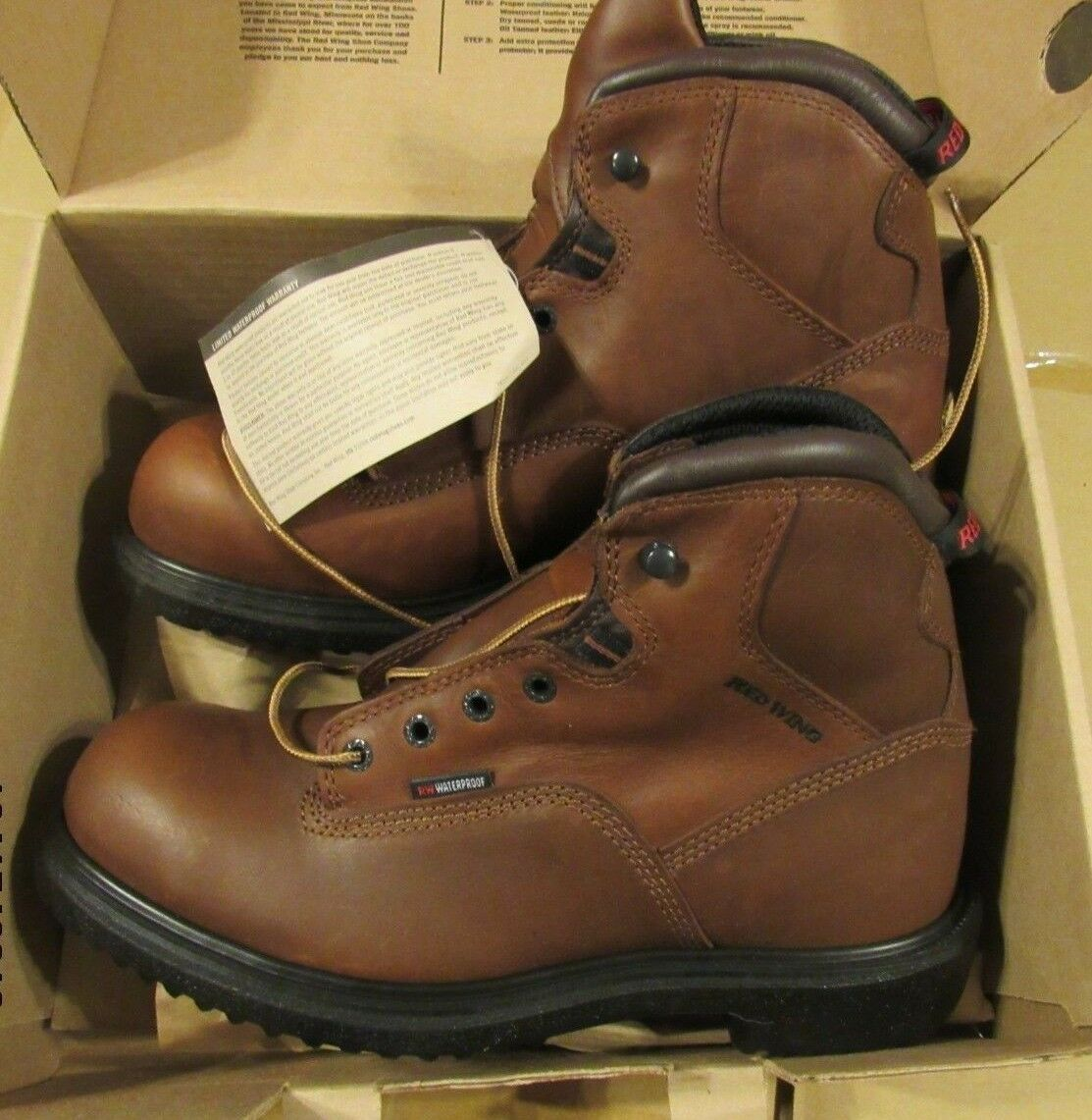 8  HIGH rosso WING WATERPROOF stivali BRAND NEW Dimensione 10.5 D
