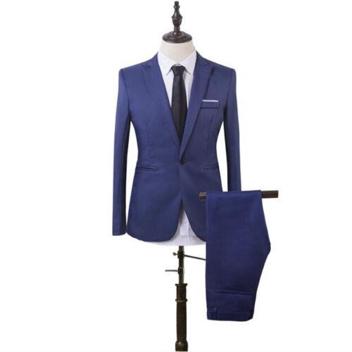 New Men/'s Slim Fit Blazer Button Jacket Formal Suit Business Coat Outwear Tops
