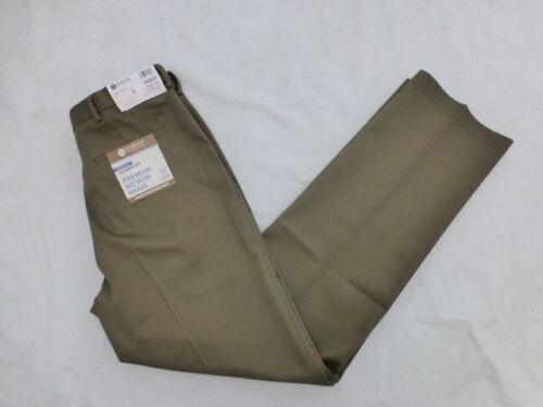 NWT MENS HAGGAR PREMIUM NO IRON KHAKI PANTS CLASSIC FIT PLEAT $55 HC10897 TOAST