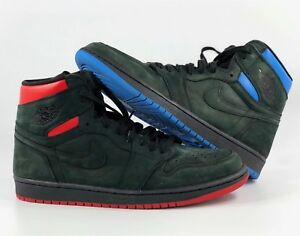 577a18e4bdf0 Nike Air Jordan 1 I Retro High OG Q54 Quai 54 Black Blue Red AH1040 ...