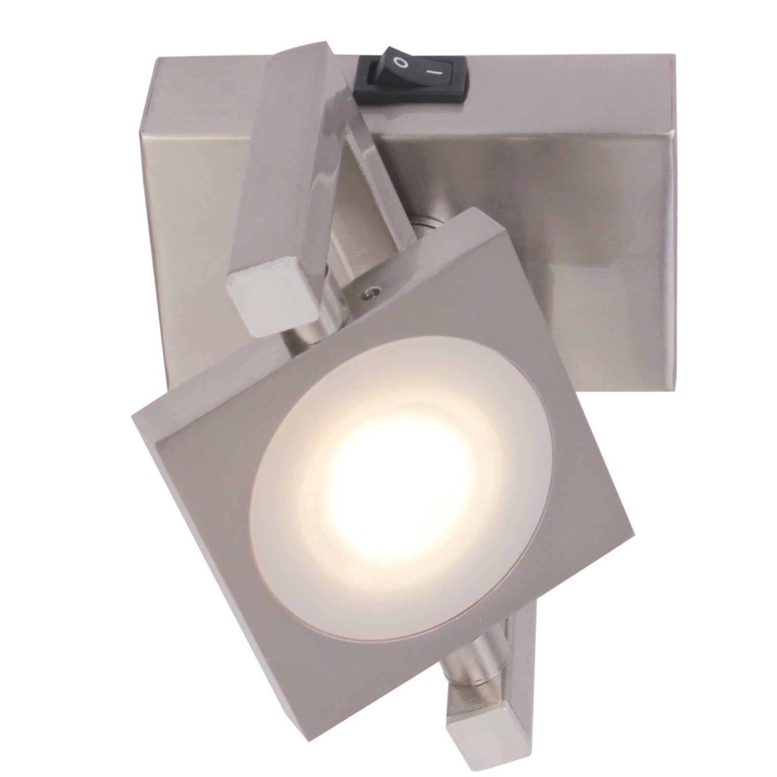 Wofi LED Lampada da parete parete parete Texel 1-flg nichel Spot Interruttore Regolabile 5 watt Lampada 7b52e3