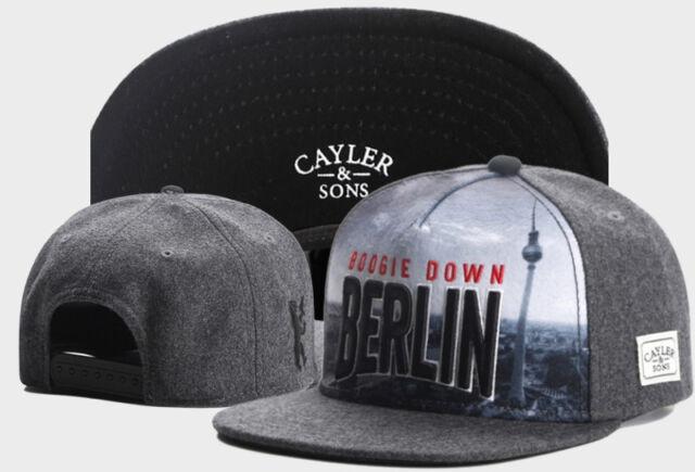 New Hip Hop Men/'s CAYLER Sons Cap adjustable Baseball Snapback Gray Street hat