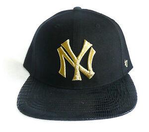 uk availability aliexpress hot sales NY/NEW YORK YANKEES '47 Brand Flat Brim Hat/Cap (Sz 7 1/2) Gold ...
