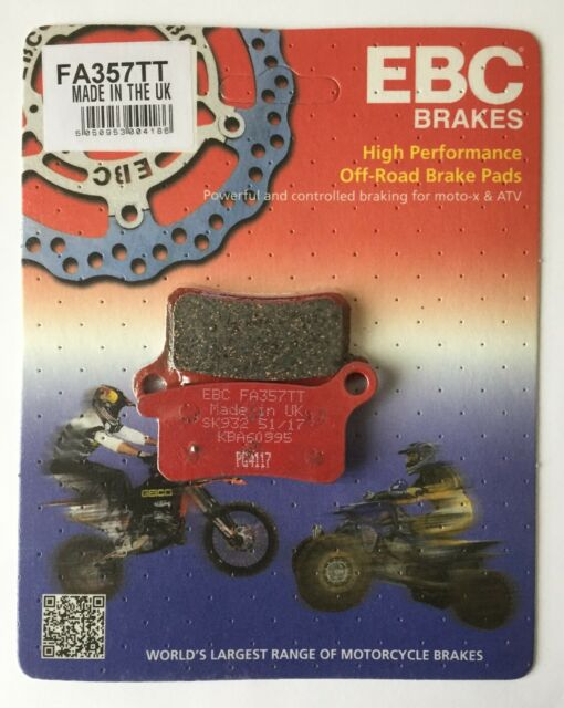 "EBC ""TT"" Series FRONT Disc Brake Pads (1 Set) Fits HUSQVARNA CR65 (2011 to 2013)"