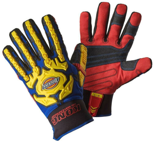 GL01WP GL01HDC5 Dickies Impact Work Gloves Mens Durable PPE GL01SG