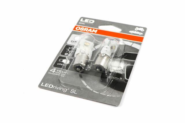 Osram LEDriving Cool White 6000K Bulbs Set P21W 382 BA15s Bayonet 7458CW-02B