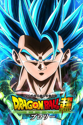 Dragon Ball Super Broly Movie Poster Gogeta Face 12inx18in Free Shipping Ebay