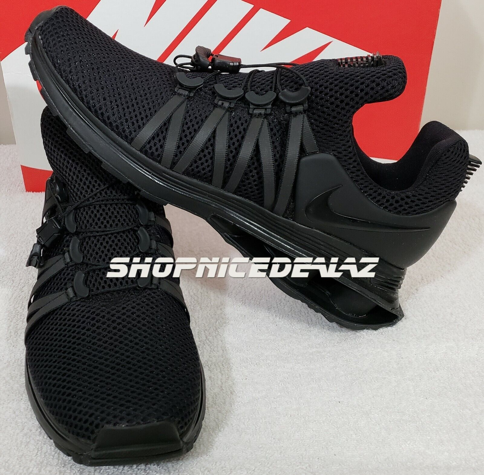 Nike Shox Shox Shox Gravity Black size  10 men 458a38