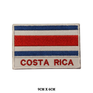 Costa-Rica-National-Flag-Embroidered-Patch-Iron-on-Sew-On-Badge