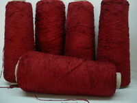 Muy Calor Red Rayon 2010 Ypp Chenille Yarn 5 Cones 4.1 Lbs