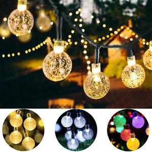 30 LED Solar Powered String Light Lamp Garden Yard Decor Outdoor Waterproof 21ft