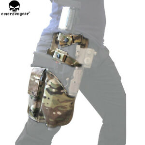 Thigh Tactical Rig Magazine Hand Pistol Drop Leg Mp7 Right Details Pouch About Holster AL54Rj