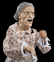 Life Size Standing Granny Psycho Mother Bates Motel Haunted House Horror Prop-5f