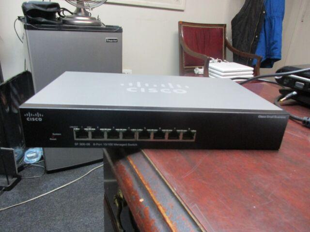 Cisco SF 300-08 (SRW208-K9) 8-Port Gigabit Managed Switch, No Adapter