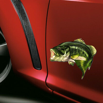 Car Bass Fish Fishing Stickers Boat Kayak Decals 3D Sticker Truck Laptop Window