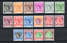 MALAYA STRAITS SETTLEMENTS 1954 MALACCA QEII COMPLETE SET OF MNH STAMPS UN/MM