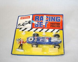 LUCKY TOYS - RACING SET BLEU - MADE IN HONG KONG