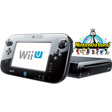 Black 32GB Wii U Deluxe Set + Nintendo Land - FACTORY REFURBISHED BY NINTENDO