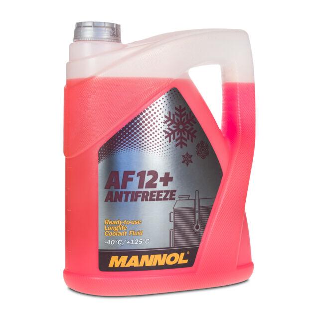 5 (1x5) Litro Mannol Anticongelante AF12 + Fertiggemisch Rojo 40 °C)