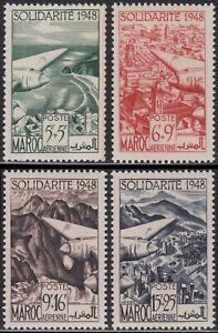 PerséVéRant France Colonie 1949 Maroc Pa N°70/73** Oeuvres De Solidarite, French Morocco Mnh Circulation Sanguine Tonifiante Et Douleurs D'ArrêT